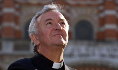 The Most Rev Vincent Nichols, outside Westminster Cathedral, London ...