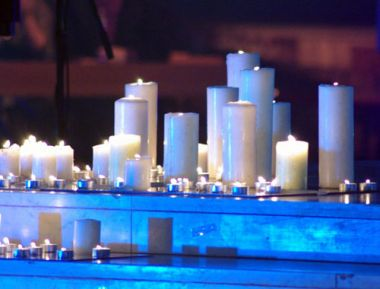 Candle lights at the stage