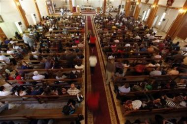 Christians attend a service at Mar Youssif Chaldean Church in ...