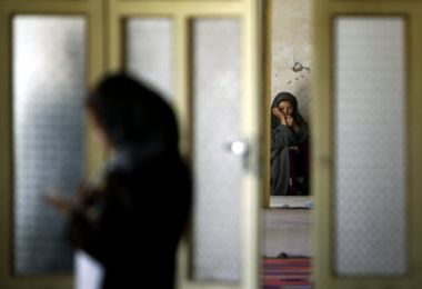 This Monday, May 16, 2011 photo shows women at a center of the Afghan ...