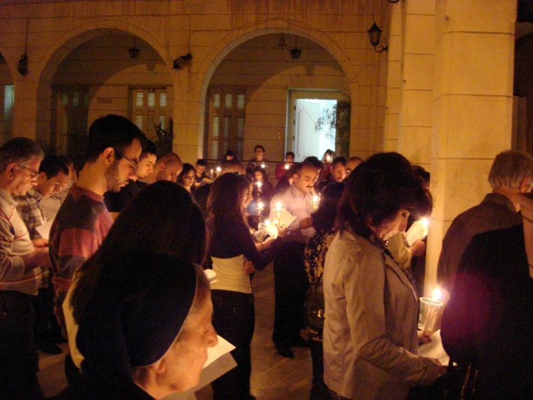 Easter at a Damascus Church