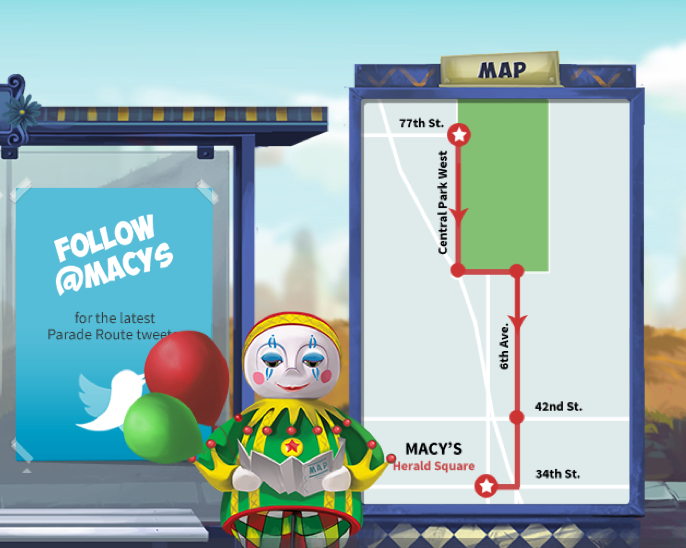 Macy's Thanksgiving Day Parade Map