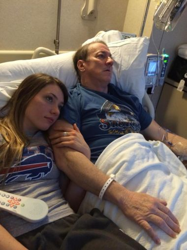 Jim Kelly and his daughter, Erin