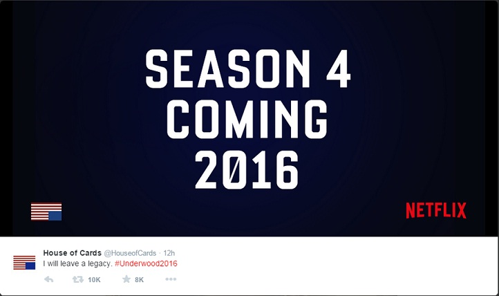 House Of Cards Season 3 Release Date Netflix: Bluffing Information ...