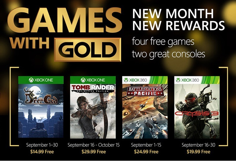 free games with xbox gold september