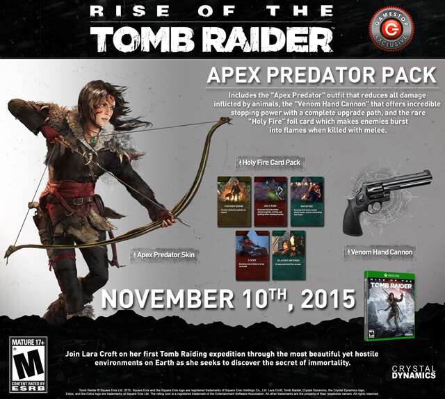 Tomb Raider Definitive Edition For Xbox One And Ps4 4k Hd: 'Rise Of The Tomb Raider' Preorder Bonus Details Revealed