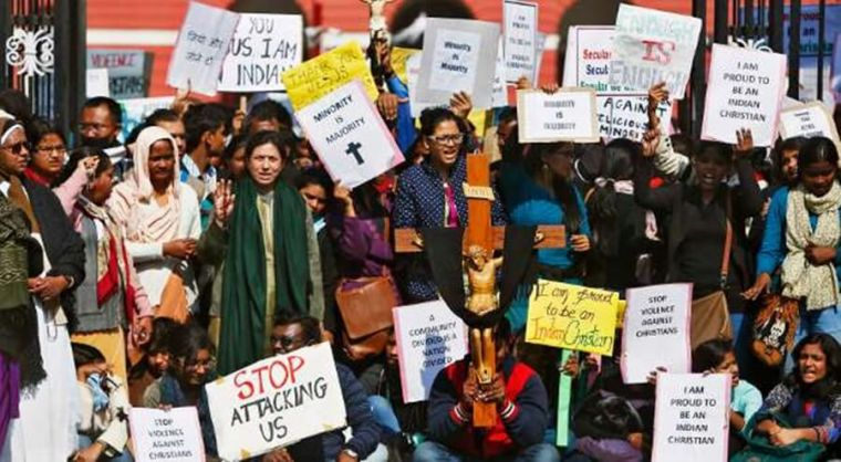 Indian Christians protest persecution