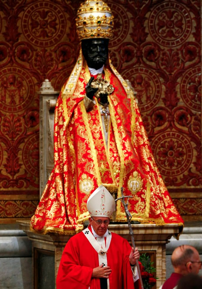 Image result for st peter statue pope francis