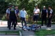 police-officers-detain-a-man-after-an-attack-in-the-centre-of-almaty-kazakhstan-yesterday