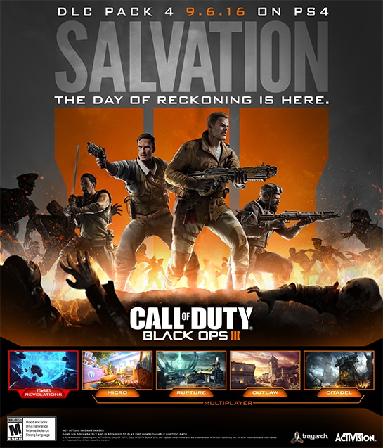 Call Of Duty: Black Ops 3 Salvation DLC 4 'Revelations' Trailer Released