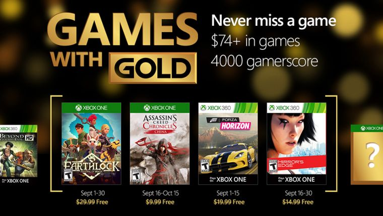 free games with gold september xbox one