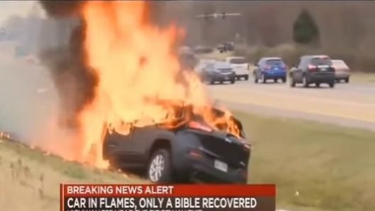 driver-and-only-his-bible-escape-intact-from-car-that-burst-into-flames