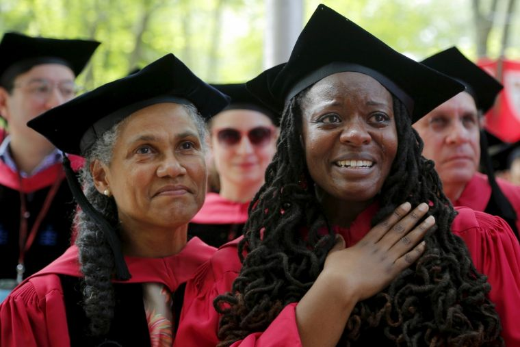 Jacqueline Rivers (L), pictured here at Harvard with Jovonne Bickerstaff.