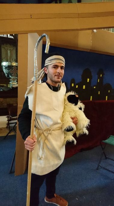 A nativity 'shepherd' celebrates his first Christmas as a Christian after converting from Islam