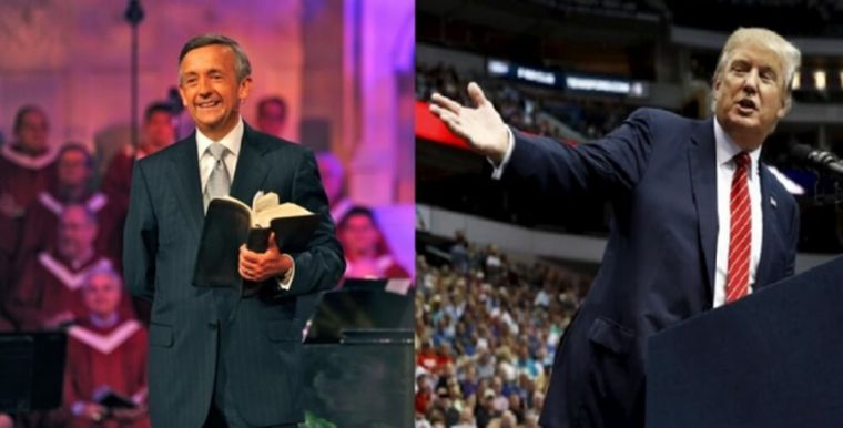 Image result for 'God is not against building walls!' The sermon Trump heard from Robert Jeffress before his inauguration.