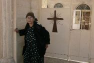 An Iraqi Christian woman leaves a church in Tal Kaeef north of Mosul.